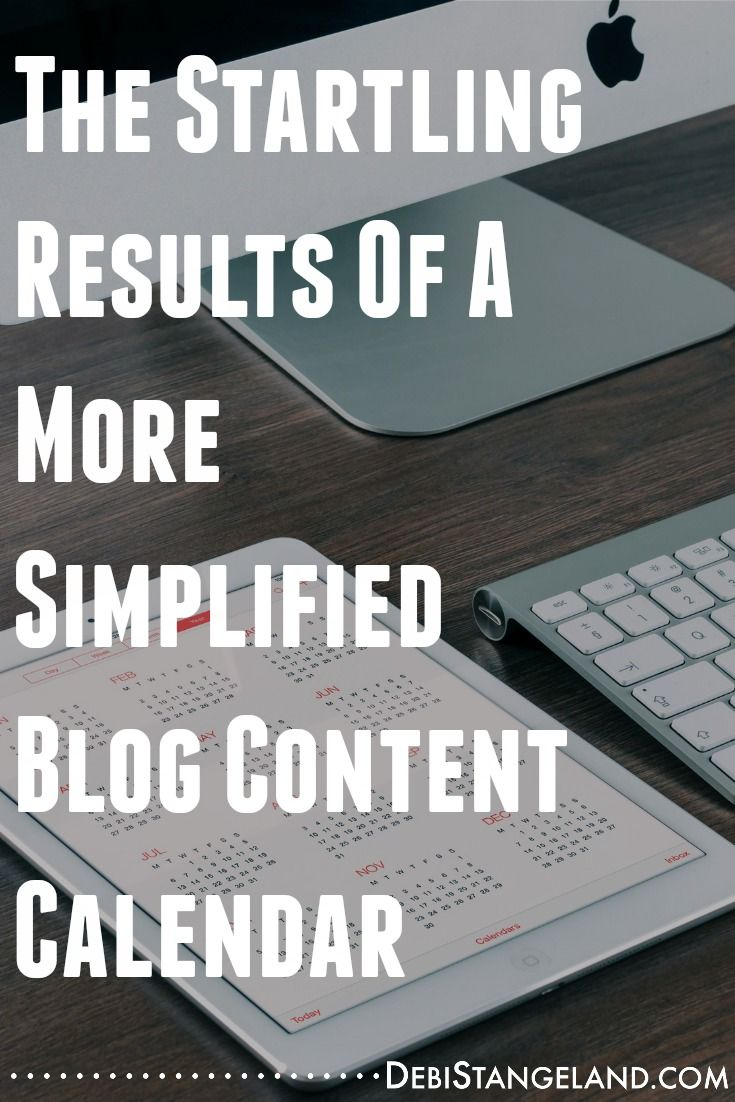 A blog content calendar doesn't need to be complicated. You will find startling results when you simplify the process. Learn to create your own calendar for free.