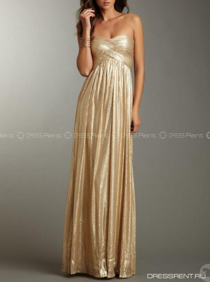 Платье - La femme   Gold Dress