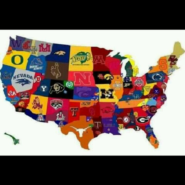 College football across the nation...we just love this!