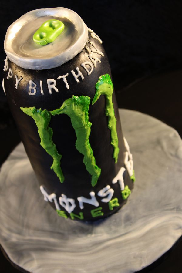 monster energy birthday cake. I wish I could make this!!