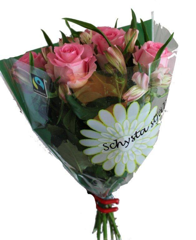 Blandbukett - #Rosor & alstroemeria http://www.aph.se/ #Fairtrade #roses #blommor