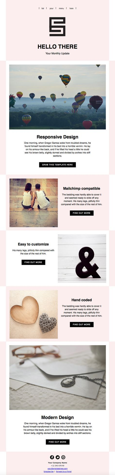 cool mailchimp templates - 1000 ideas about html newsletter templates on pinterest