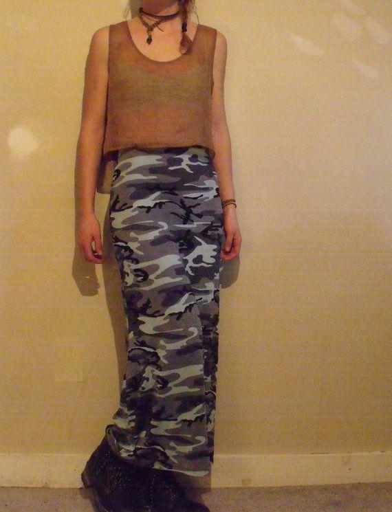 90's Camo skirt