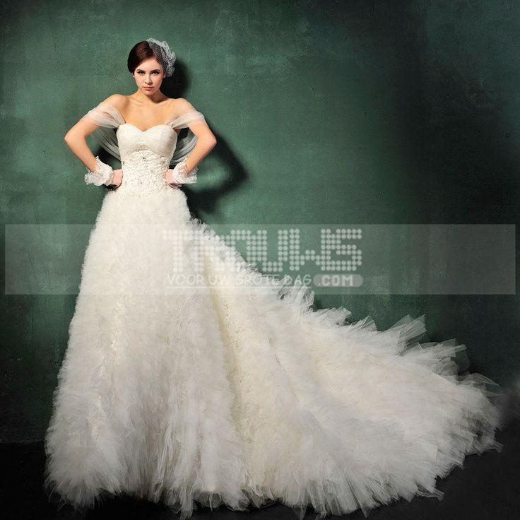 http://www.trouws.com/trouwjurken-c1 Koreaanse stijl van zoete prinses winter BH bandjes trailing trouwjurk - €214.07 , Trouws.com