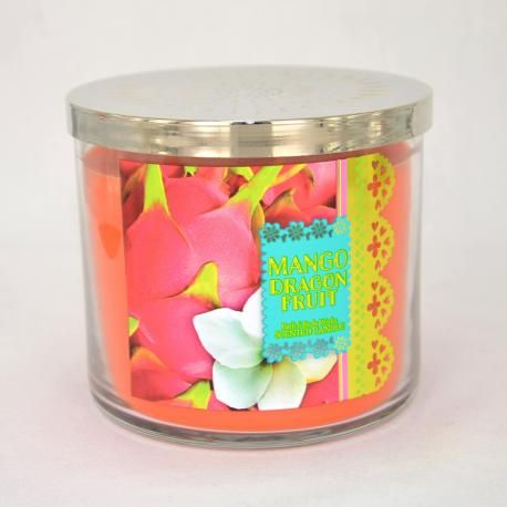 Bougie parfumée 3 mèches MANGO DRAGONFRUIT Bath and Body Works