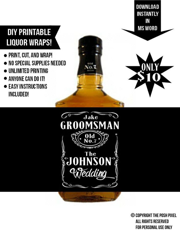 Printable Jack Daniels Whiskey Wraps