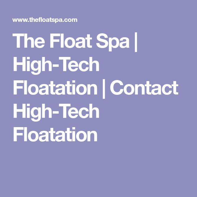 The Float Spa | High-Tech Floatation | Contact High-Tech Floatation