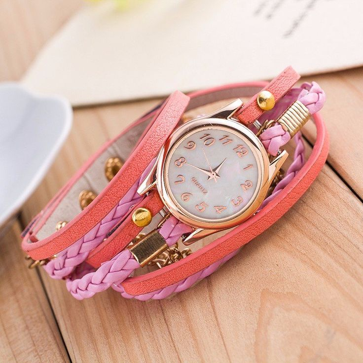 Multilayer PU Leather Band Wrap Bracelet Wrist Watch  #women #men #fashion #jewelry #watches