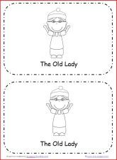 """Emergent reader book with repetitive text to use with """"There was an Old Lady Who Swallowed a Bell"""" via www.pre-kpages.com"""