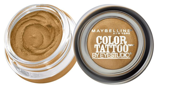 Maybelline 24 Hour Eyeshadow, Bold Gold, 0.14 Ounce. 24 hour wear without creasing or fading. Ink pigments for intense color. Unique cream-gel texture.