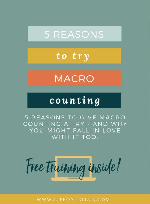 5 reasons to give macro counting a try and how it might help you change your relationship with food and end your overeating habit.