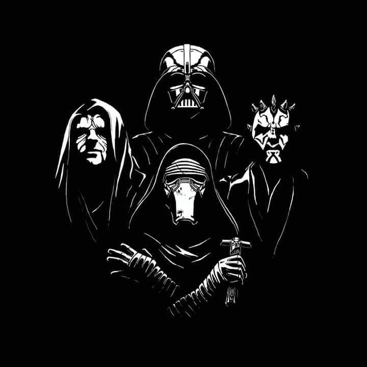Since my pc is ded for a while I'll be uploading my older stuff for a bit to fill the void.  Heres my magnum opus that brought me this far in illustration back in the day -Galactic Rhapsody- - - - - #starwars #darthvader #palpatine #qwertee #othertees #darthmaul #kyloren #star #wars #nerdy #geeky #illustration #darkside #digitalart #lucasfilms