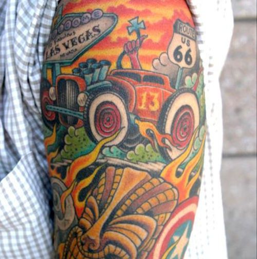 Car tattoo Automotive tattoos | tattoos picture car tattoos