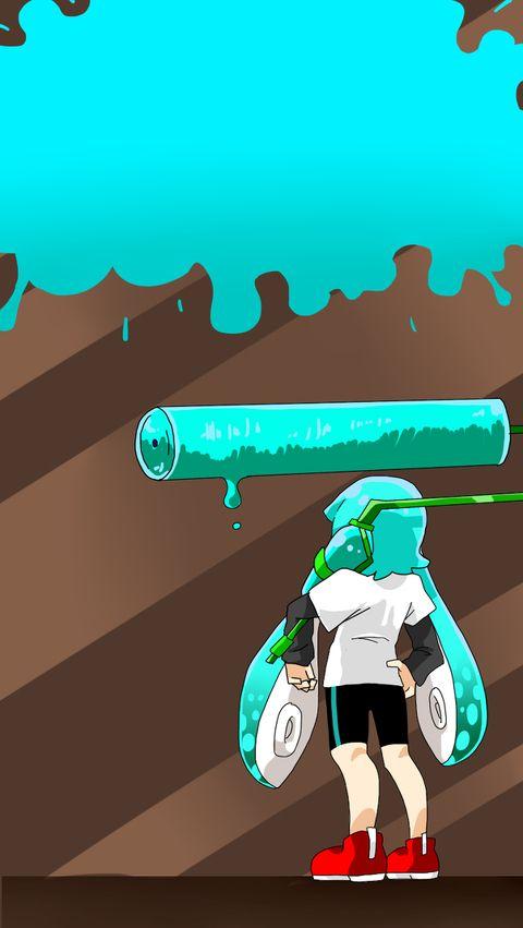 「イカちゃん待ち受け」/「まなちゅう@ついった」の漫画 [pixiv] #Inkling #wallpaper