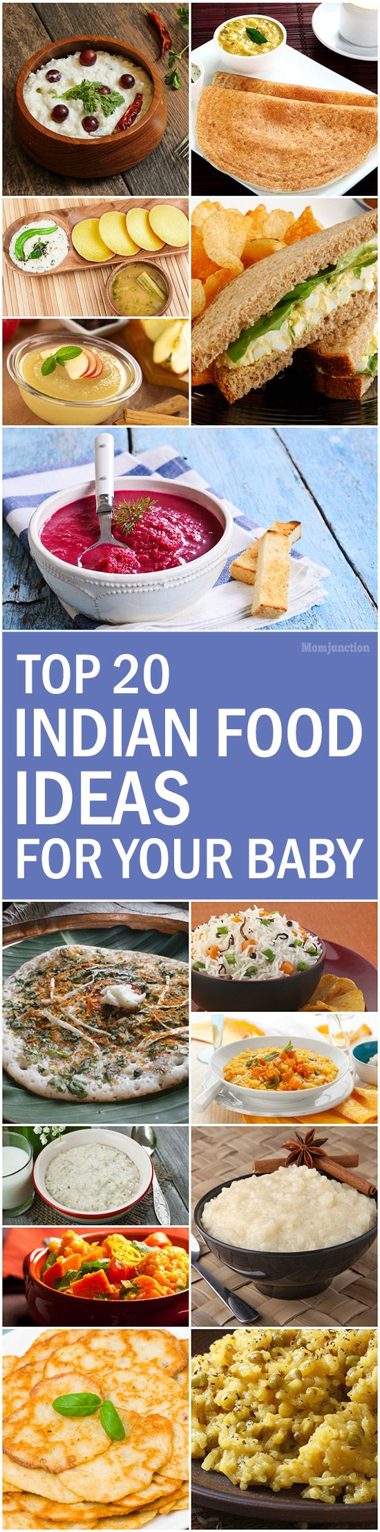 Top 20 Indian Food Ideas For Your Baby: read on to check out our different recipe recommendations and see how you can make them at home yourself.