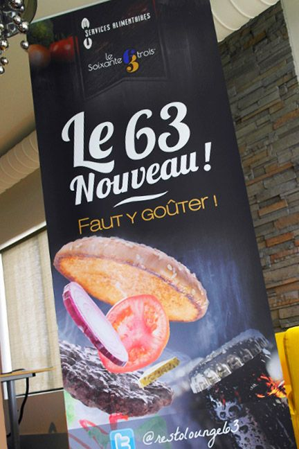 Roll up banner Le 63 lounge is located in the student center of the Université de moncton.