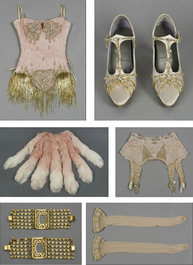 Nicole Kidman's Pink Diamonds costume in Moulin Rouge. If accessorized and tweaked just a little on the style this could work for the Emilie Autumn style costume set