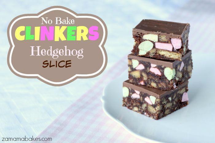 no bake clinkers hedgehog slice feature