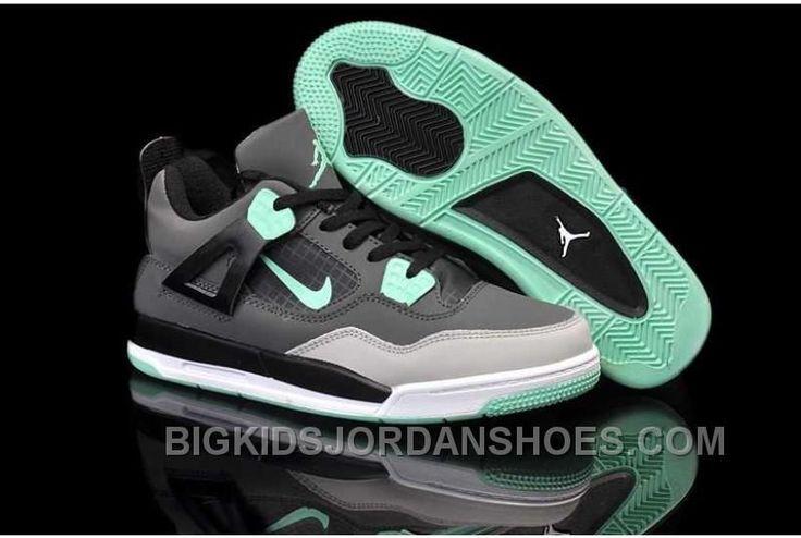 http://www.bigkidsjordanshoes.com/nike-air-jordan-4-kids-grey-black-shoes-new.html NIKE AIR JORDAN 4 KIDS GREY BLACK SHOES NEW Only $84.66 , Free Shipping!