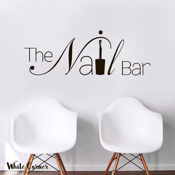 rta1579 The Nail Bar Nail Hair Salon by WhiteCornerDesigns on Etsy