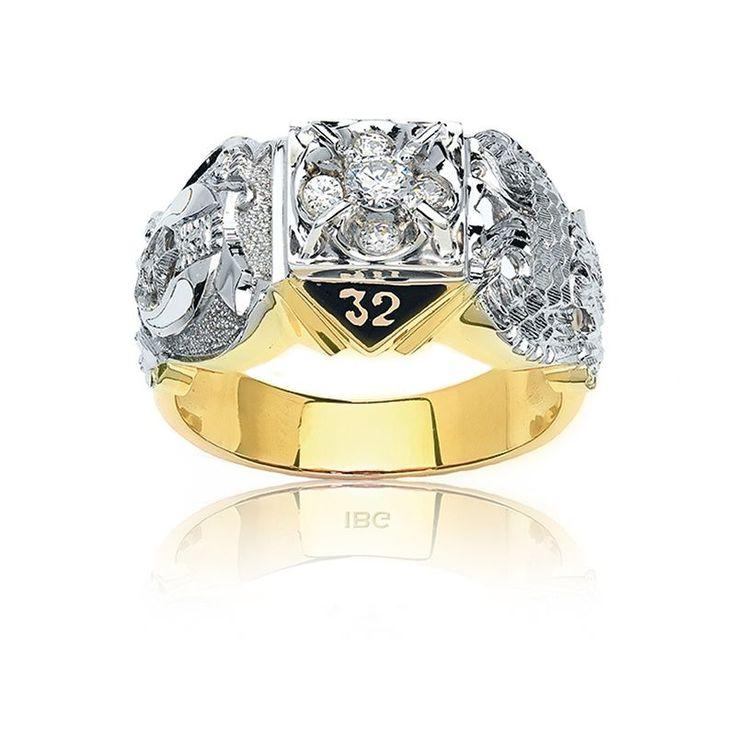 IBGoodman ½ct. Men's 32nd Degree Masonic Diamond Ring