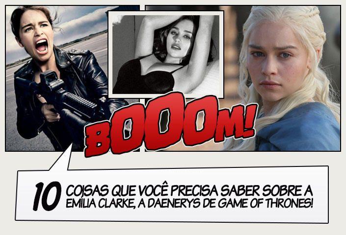 Muito além da Khaleesi, Quebradora de Correntes, Mãe dos Dragões, Mhysa e todos os outros títulos de Daenerys Targaryen, temos Emilia Clarke, a atriz que não possui as madeixas loiras da personagem, mas que aprendeu domar um dragão como ninguém em Game of Thrones. Para conhecer um pouquinho mais sobre a moça, que está decolando …