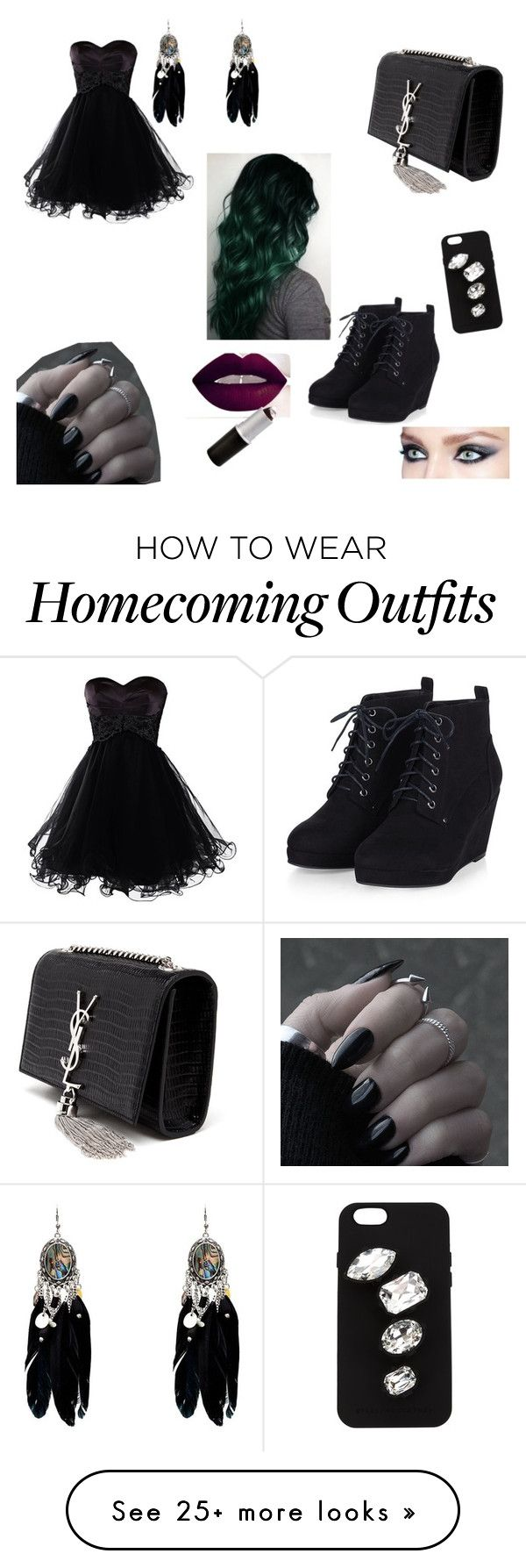 """""""Random #16"""" by emo-lover-clx on Polyvore featuring Yves Saint Laurent, STELLA McCARTNEY, women's clothing, women, female, woman, misses and juniors"""