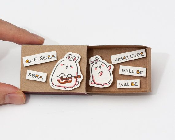 Cute Fun Encouragement Que Sera Matchbox/ Card / Gift by shop3xu