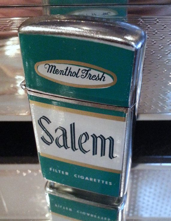 100 % AUTHENTIC  FOR THE COLLECTOR !!!  MADE IN JAPAN !! SALEM ADVERTISING LIGHTER 40 TO 50 YEARS OLD ~ EXCELLENT CONDITION TAKES REGULAR