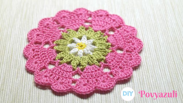 DIY Crochet and Knitting Povyazuli: [Crochet] How To Crochet Doily Hearts or Coaster To The Coffee Cup