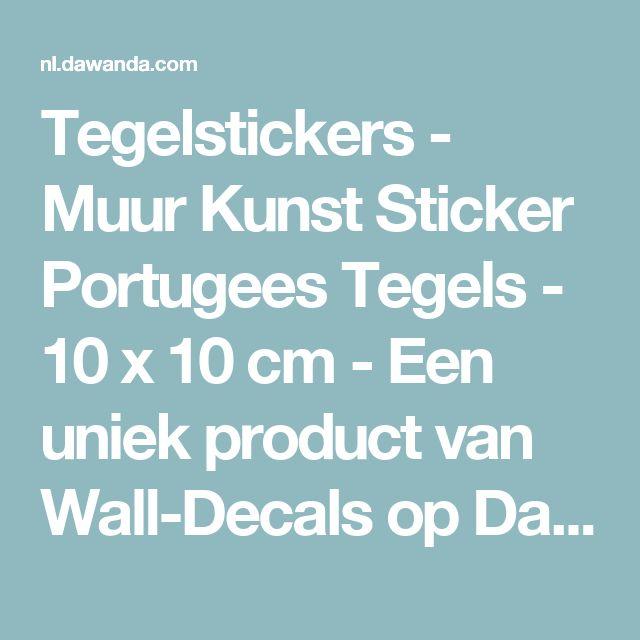 Tegelstickers - Muur Kunst Sticker Portugees Tegels - 10 x 10 cm - Een uniek product van Wall-Decals op DaWanda