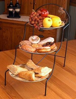 Wrought Iron Three Tier Pie Or Plate Rack Stand Love This