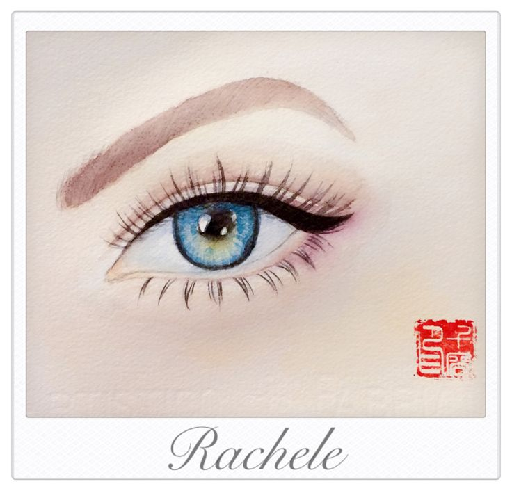 #watercolor #eye #qianrong