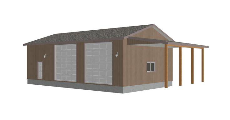 Garage plans garage 300x156 g393 martin 8002 37 30 for 50 x 30 garage plans