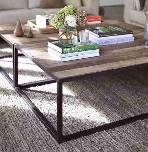 mesa ratona hierro madera