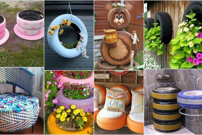 Car Tire Crafts For Your Home And Garden