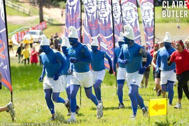 Smurfs at the Cape Town 2012 Impi Challenge & Festival