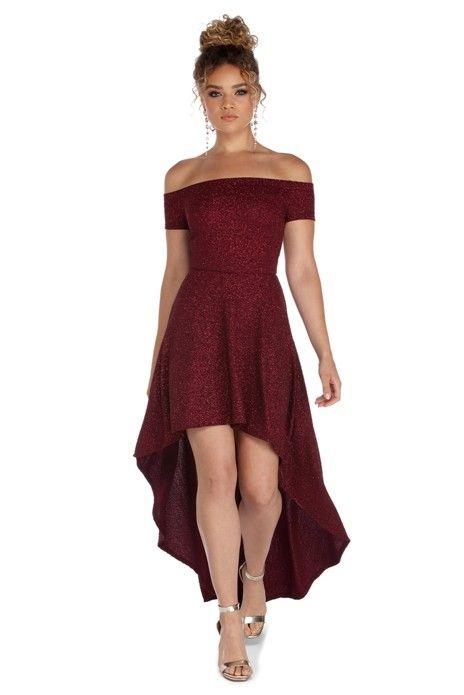 8f0f0ef3 Penelope Glitter Formal High Low Dress in 2019 | prom/hoco | Formal ...