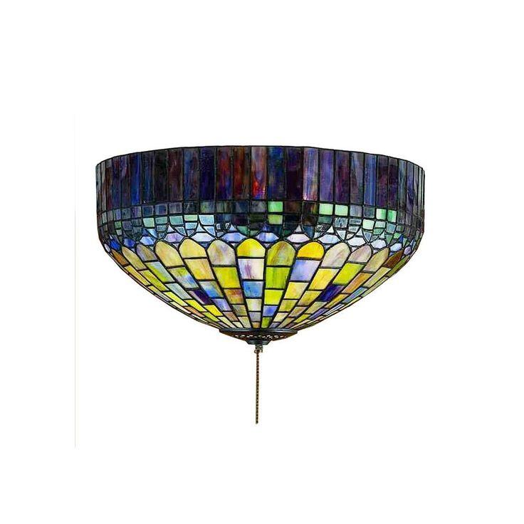 Illumine 3 Light Tiffany Candice Flushmount CLI MEY27444   The Home Depot