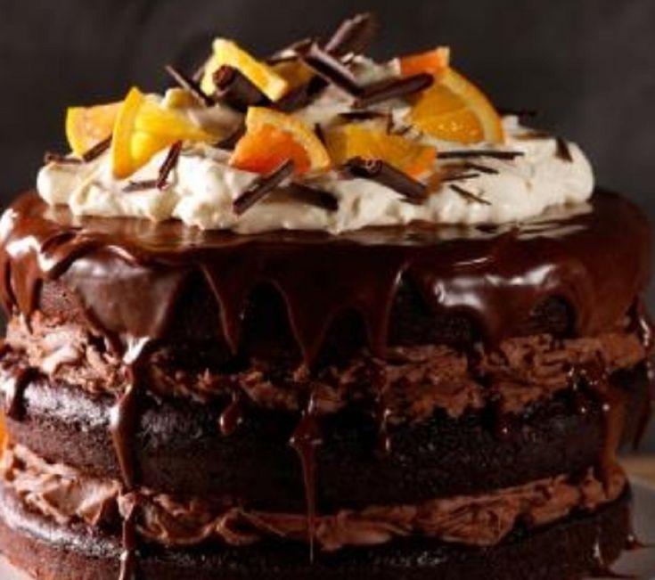 Recette : Gâteau au chocolat et à l'orange.