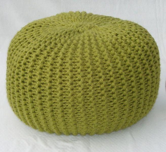twistandpurl: Large Round Pouffe / Footstool
