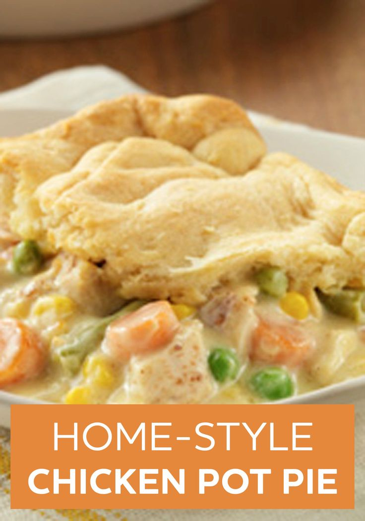 This Home-Style Chicken Pot Pie is sure to fulfill your comfort food cravings. Try this easy recipe for dinner tonight!