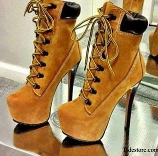 Timberland High Heel Shoes I need these in my life!