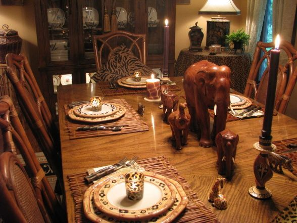 17 best images about tablescapes african safari on for Dining room tables south africa