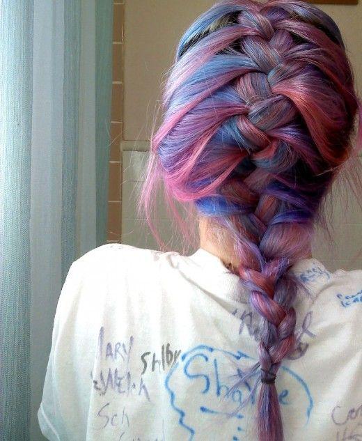 Like a cotton-candy dream. http://hub.me/ag6ge Manic Panic Hair Dye Review