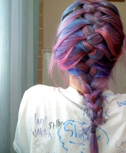 Like a cotton-candy dream. http://hub.me/ag6ge Manic Panic Hair Dye Review