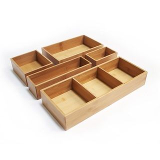 Seville Classics Bamboo Assorted Sizes 2 Drawer Organizer Boxes | Overstock.com Shopping - The Best Deals on Flatware Storage
