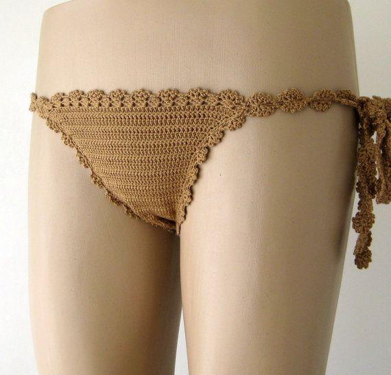 Crochet el bikiní traje de baño de caramelo Sexy mujer ropa