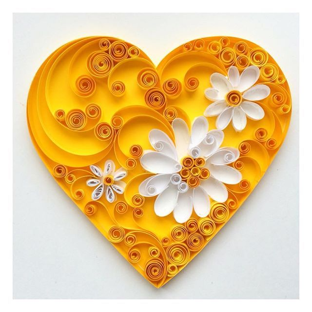 391 best quilled love images on pinterest for Quilling heart designs