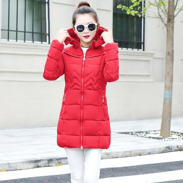 Autumn Winter Female Jackets Woman Winter Coat 2018 Hooded Jacket Women Parkas Women Winter Jacket Plus Size S-6 Women Outwear 1